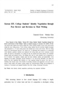 Korean EFL College Students' Identity Negotiation through Peer Review and Revision in Their Writing
