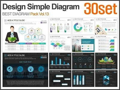 Design Simple 다이어그램 패키지 Vol.13(30종)_맑은피티