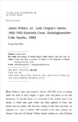 James Pethica, ed., Lady Gregory's Diaries 1892-1902 (Gerrards Cross, Buckinghamshire: Colin Smythe, 1996)