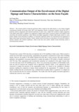 Communication Output of the Envolvement of the Digital Signage and Source Characteristics : on the focus Façade