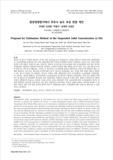 환경영향평가에서 부유사 농도 추정 방법 제안 (Proposal for Estimation Method of the Suspended Solid Concentration in EIA)