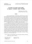 The Effect of Coworker Social Loafing on Employees' Distributive Justice Perceptions (동료의 사회적 태만이 조직구성원의 분배적 공정성 인식에 미치는..