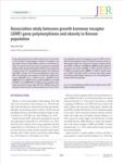 Association study between growth hormone receptor (GHR ) gene polymorphisms and obesity in Korean population
