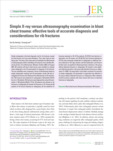Simple X-ray versus ultrasonography examination in blunt chest trauma : effective tools of accurate diagnosis and consid..