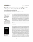 Effect of carbonization temperature on crystalline structure and properties of isotropic pitch-based carbon fiber
