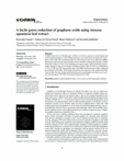 A facile green reduction of graphene oxide using Annona squamosa leaf extract