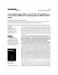 Disorientation angle influence on the thermal residual stresses in carbon multilayered composite plates of different thi..