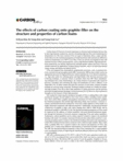 The effects of carbon coating onto graphite filler on the structure and properties of carbon foams