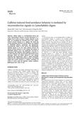 Caffeine-induced food-avoidance behavior is mediated by neuroendocrine signals in Caenorhabditis elegans
