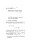 EVALUATION OF SOME NEW LAPLACE TRANSFORMS FOR THE GENERALIZED HYPERGEOMETRIC FUNCTION <sub>p</sub>F<sub&g..
