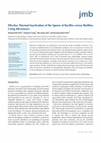 Effective Thermal Inactivation of the Spores of Bacillus cereus Biofilms Using Microwave