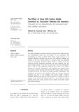 The Effects of Using O2O Fashion Mobile Commerce on Consumers` Attitudes and Intentions Focused on the characteristics -..