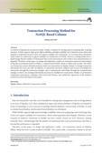 Transaction Processing Method for NoSQL Based Column