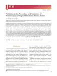 Probiotics in the Prevention and Treatment of Postmenopausal Vaginal Infections: Review Article