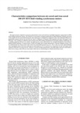 Characteristics comparison between air-cored and iron-cored 100 kW HTS field winding synchronous motors