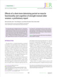 Effects of a short-term detraining period on muscle functionality and cognition of strength-trained older women : a prel..