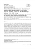 Human Impact on Diversity and Abundance of Baboon (Papio kindae)-edible Fleshy-fruited Trees in Miombo Forests of the Ku..