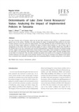 Determinants of Lake Zone Forest Resources' Status : Analyzing the Impact of Implemented Policies in Tanzania