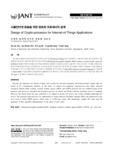 사물인터넷 응용을 위한 암호화 프로세서의 설계 (Design of Crypto-processor for Internet-of-Things Applications) (Design of Crypto-processor f..