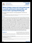 Effects of dietary energy and crude protein levels on growth performance, blood profiles, and carcass traits in growing-..