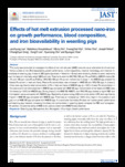 Effects of hot melt extrusion processed nano-iron on growth performance, blood composition, and iron bioavailability in ..