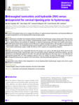 Intravaginal isonicotinic acid hydrazide (INH) versus misoprostol for cervical ripening prior to hysteroscopy